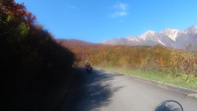 黒菱紅葉と白馬岳