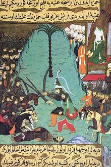 Siyer-i_Nebi_-_Imam_Ali_und_Hamza_bei_dem_vorgezogenen_Einzelkampf_in_Badr_gegen_die_Götzendiener