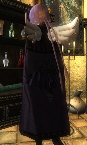 ドレスの裾がマントを貫通している・・・