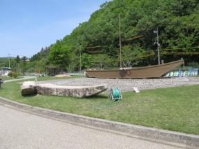 復元された高瀬舟