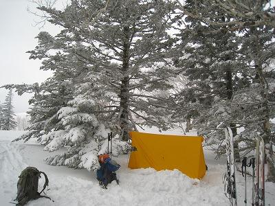 斜里岳東陵ツェルト3