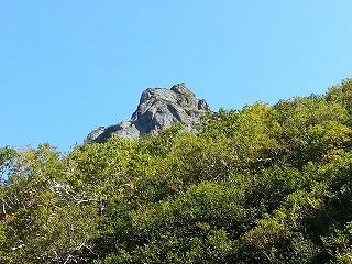 斜里岳旧道岩峰1