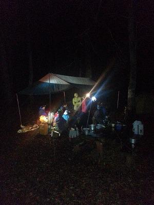 オンネトーキャンプ場夜2