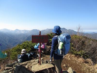 伏見岳山頂(10月)