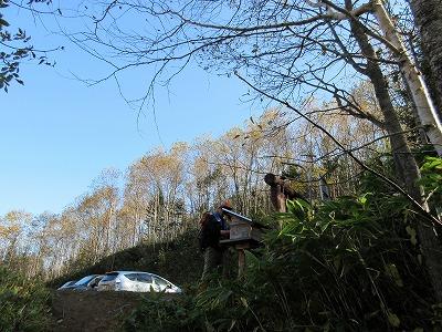 伏見岳登山口(下山)