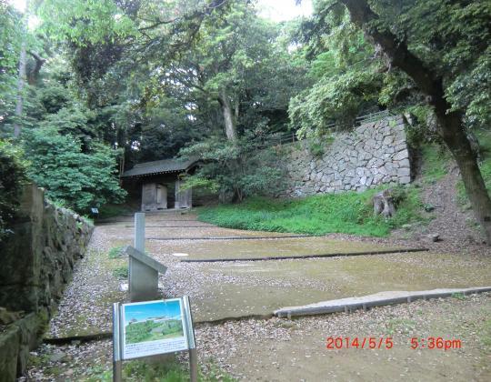 浜田城址階段
