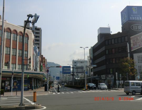 鳥取駅前(朝)