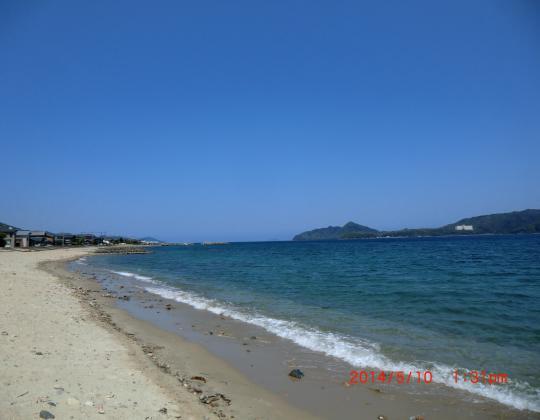 天橋立から宮津湾日本海を望む
