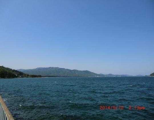 宮津湾から天橋立遠望