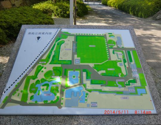 田辺城址案内図
