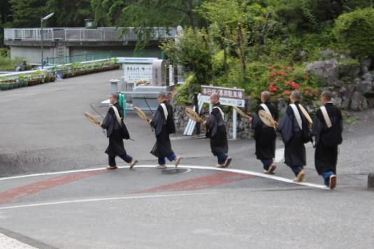 ご入山行列前夜祭 僧侶