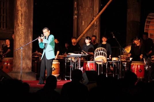 ご入山行列前夜祭 山梨県太鼓交響楽団 笛