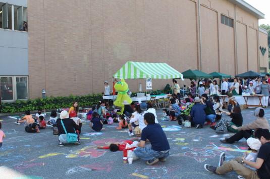 韮崎文化ホール祭り お絵かきアート
