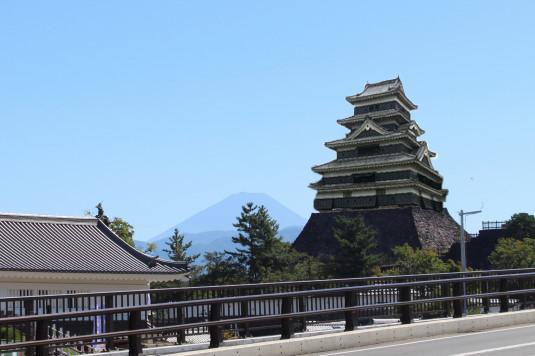 甲府城天守クソコラ 富士山