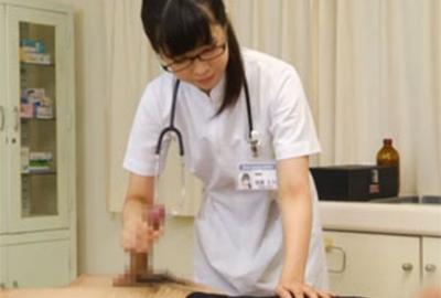 【手コキ】優しくて可愛いちょっぴりウブな看護婦さんの献身的な手コキ射精!