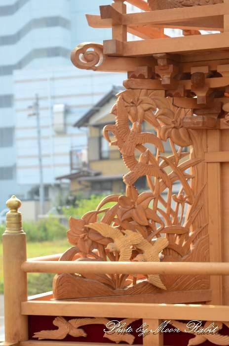 朝日町だんじり(屋台)の胴板彫刻・隅障子など 西条祭り 伊曽乃神社祭礼