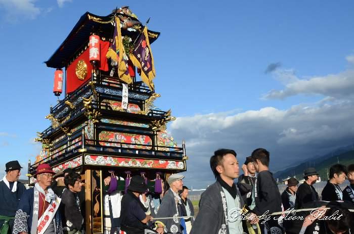 中野だんじり(屋台) 統一運行 西条祭り2013 伊曽乃神社祭礼