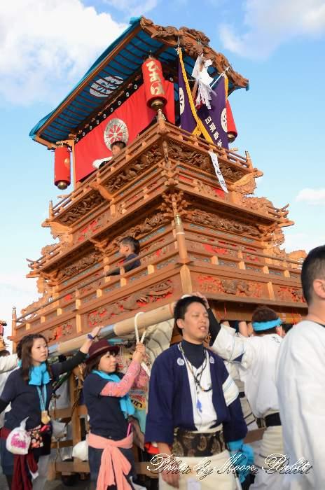 日明だんじり(屋台) 統一運行 西条祭り2013 伊曽乃神社祭礼