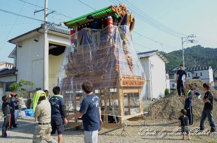 安知生屋台蔵 安知生集会所 西条祭り 愛媛県西条市安知生