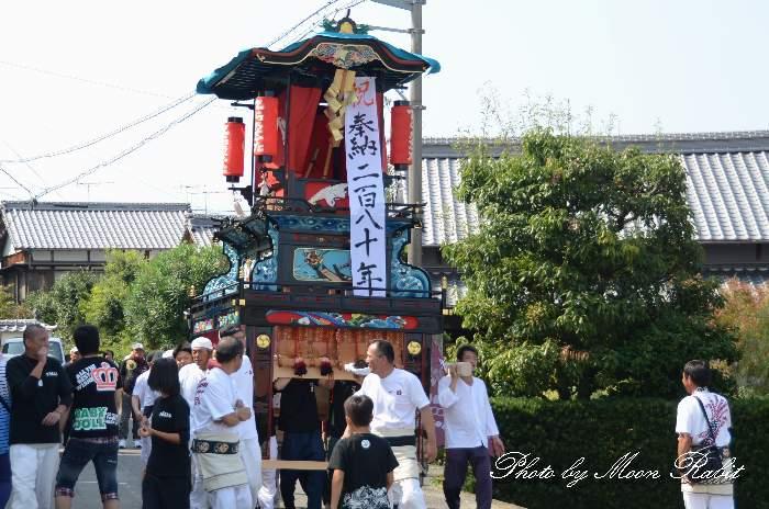 寺之下屋台改修記念運行 石岡神社 愛媛県西条市氷見