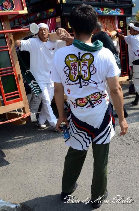 朝日町屋台(朝日町だんじり) 祭り装束 西条祭り 石岡神社祭礼