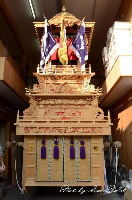 組み立て 八丁屋台(だんじり) 八丁集会所 愛媛県西条市