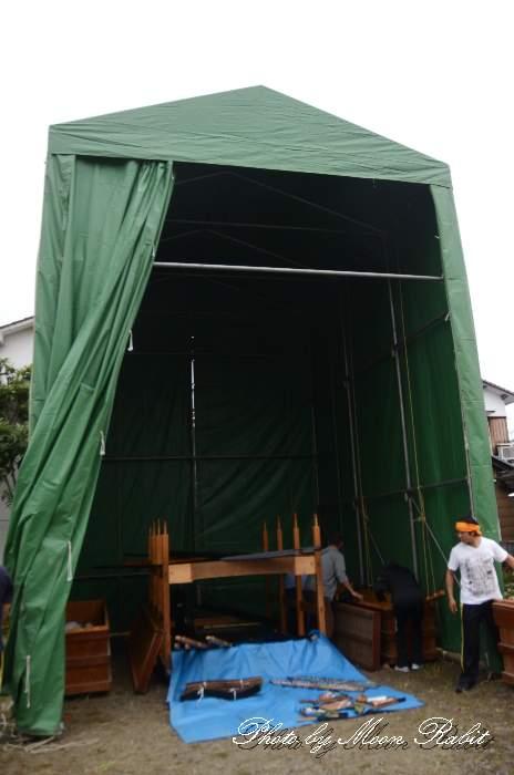 仮設格納庫(テント) 上川原屋台 西条祭り 愛媛県西条市