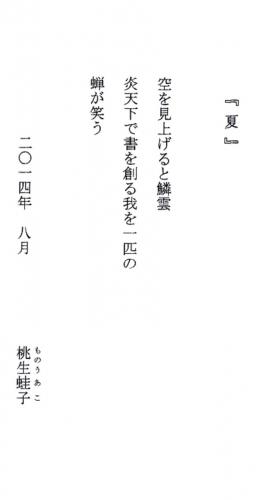 © 桃生蛙子 2014 「夏」img018.jpg