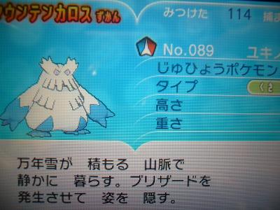 色 ユキノオー図鑑