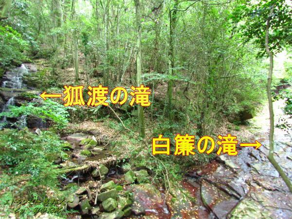 1904白簾の滝と狐渡の滝の位置関係140629