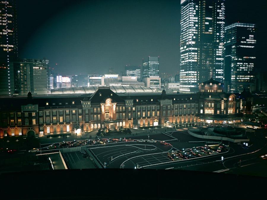東京駅」夜景03