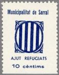 スペイン内戦戦時税切手(カタルニア旗)