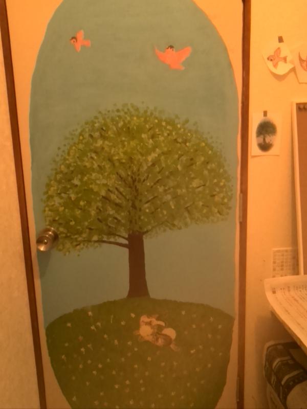 トイレドアの絵