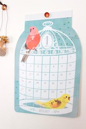 セリア 鳥さんカレンダー 2015 (2)