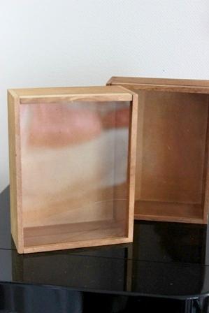 ダイソー アクリル蓋つきウッドボックス (3)