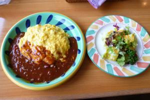 オムハヤシ&サラダ