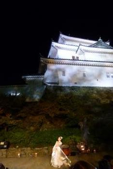 竹燈夜 天守閣前広場 クラシックバレエ