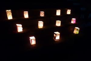 竹燈夜 天守閣前広場で
