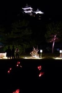 竹燈夜 いけばな野外アート展