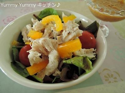 ピリ辛胡麻ダレ☆棒棒鶏風サラダ♪