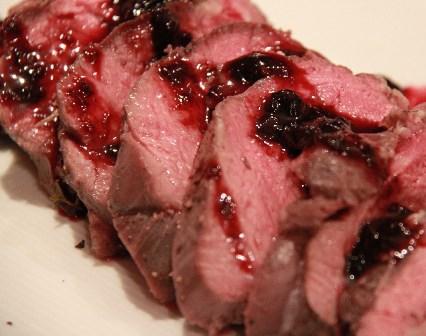 蝦夷鹿肉のロースト