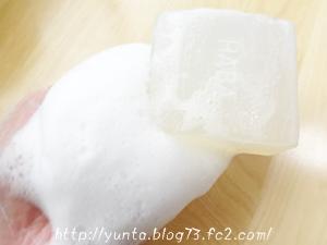無添加化粧品HABA 洗顔石鹸 スクワフェイシャルソープ 泡立ちの感じ☆