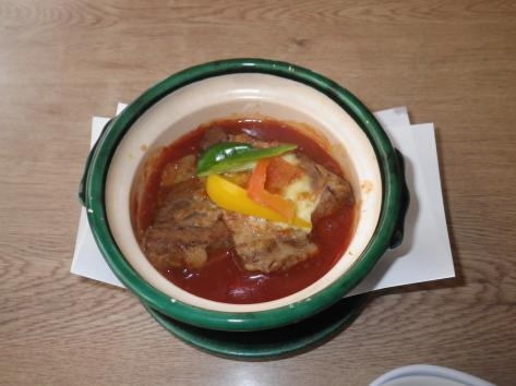 2014 峠茶屋 蔵 豚角チリソース煮