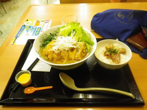 黒埼PA 排骨麺 ミニ豚丼