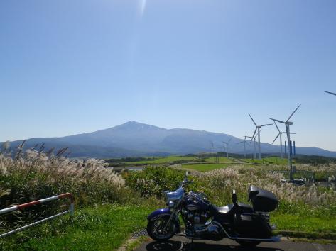 仁賀保高原 バイク