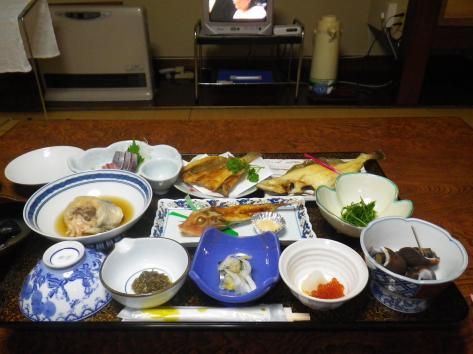 酒田屋旅館 夕食 2014
