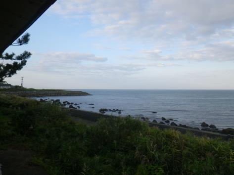 酒田屋旅館 部屋からの眺め 朝 2014