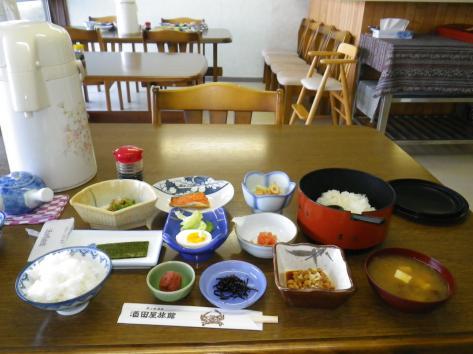 酒田屋旅館 朝食 2014