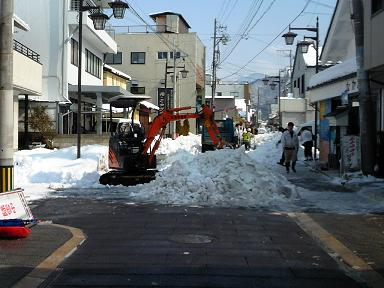 H26銀座通りの除雪作業