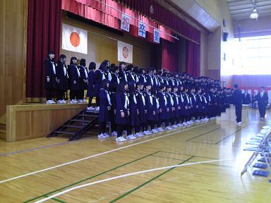 墨坂中学校卒業式